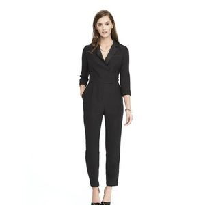Banana Republic Tuxedo Jumpsuit in Black
